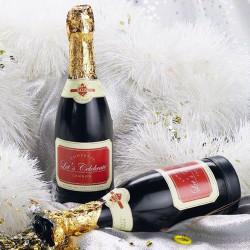 Bouteille de champagne à confettis
