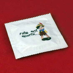 Préservatif humoristique Pinocchio