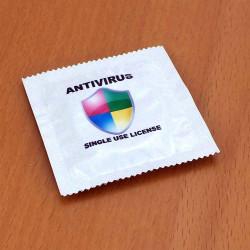 Préservatif humoristique Antivirus