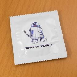 Préservatif humoristique Want to plug?