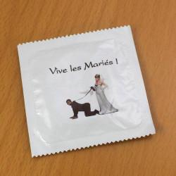 Préservatif humoristique Vive les mariés !
