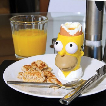 Kit coquetier tampon toast Simpsons