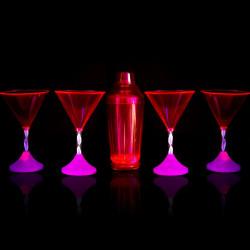 Coffret cocktail led disco
