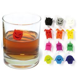 Marque-verres fantaisie silicone