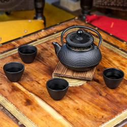 Coffret cérémonie du thé en fonte