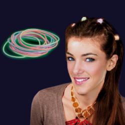 Élastiques phosphorescents pour cheveux