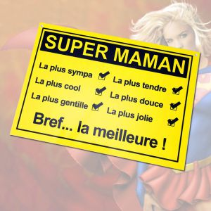 Plaque de porte Super Maman