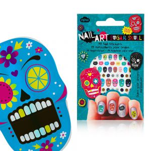 Nail art stickers crânes mexicains