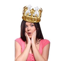 Couronne gonflable Reine d'un jour