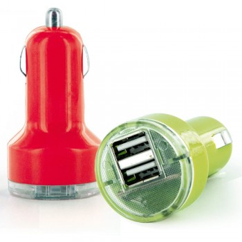 Chargeur double prise USB allume-cigare