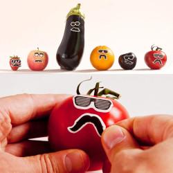 Lunettes et moustaches décoratives comestibles
