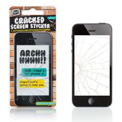 Sticker écran cassé pour iPhone