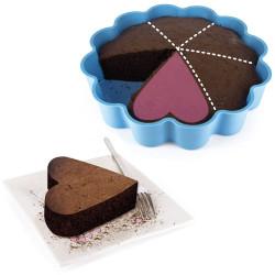 Moule à gâteau 6 parts en coeur