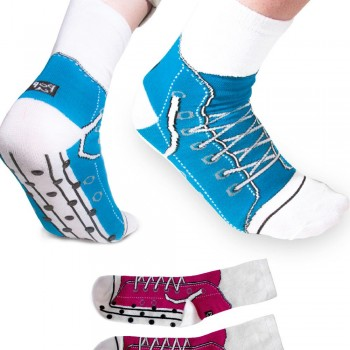 Chaussettes style baskets antidérapantes