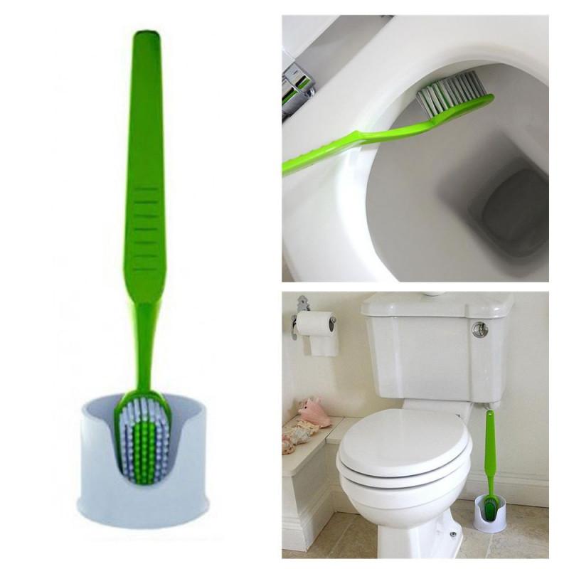 Brosse à dents pour toilettes Noire