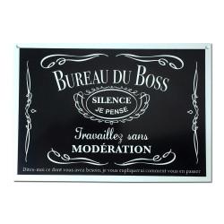 Plaque de porte Bureau du Boss