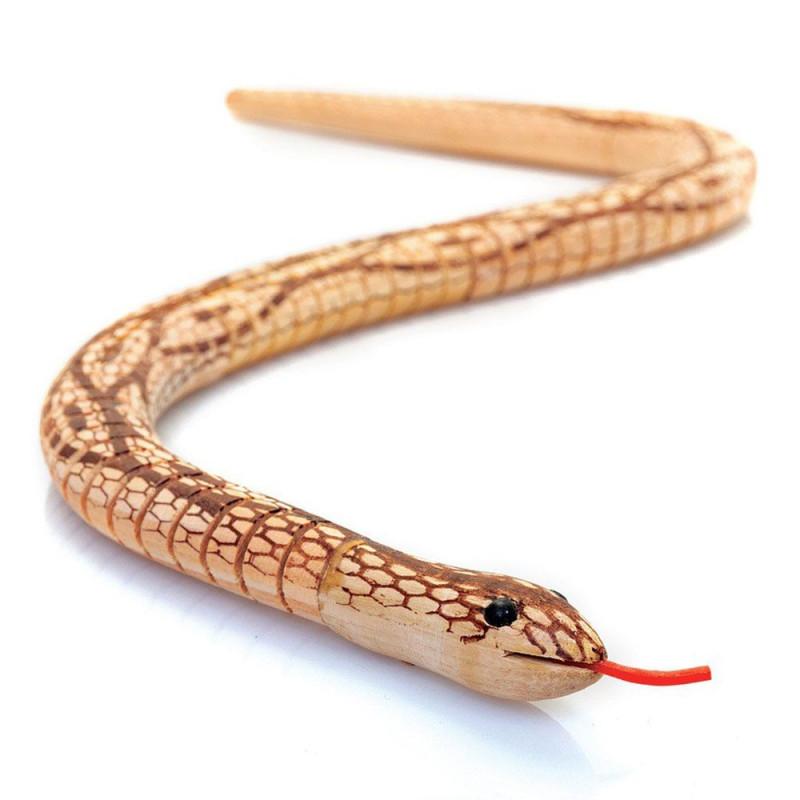 Serpent articulé en bois