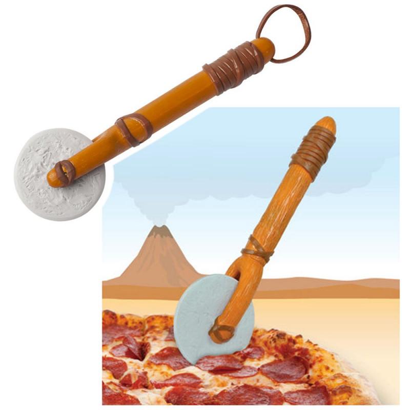 Roulette à pizza homme des cavernes