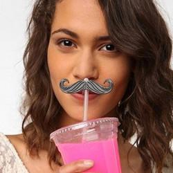 Pailles moustaches x 6