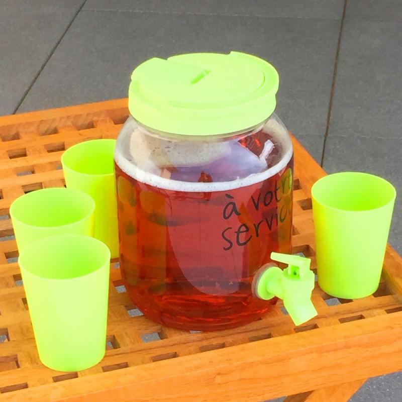 Fontaine à boisson et ses 4 gobelets