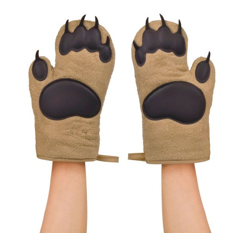 Paire de gants de cuisine pattes d'ours