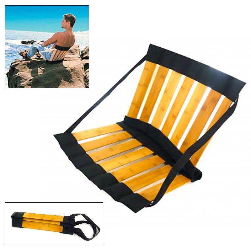 un siège pliant bambou pour la plage