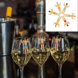 Marqueurs de verres Bonhomme