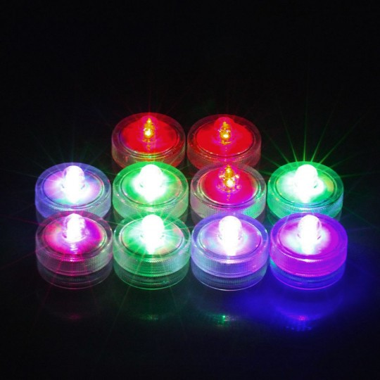 Tube de 8 bougies flottantes led