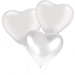 Ballons Coeur Blancs