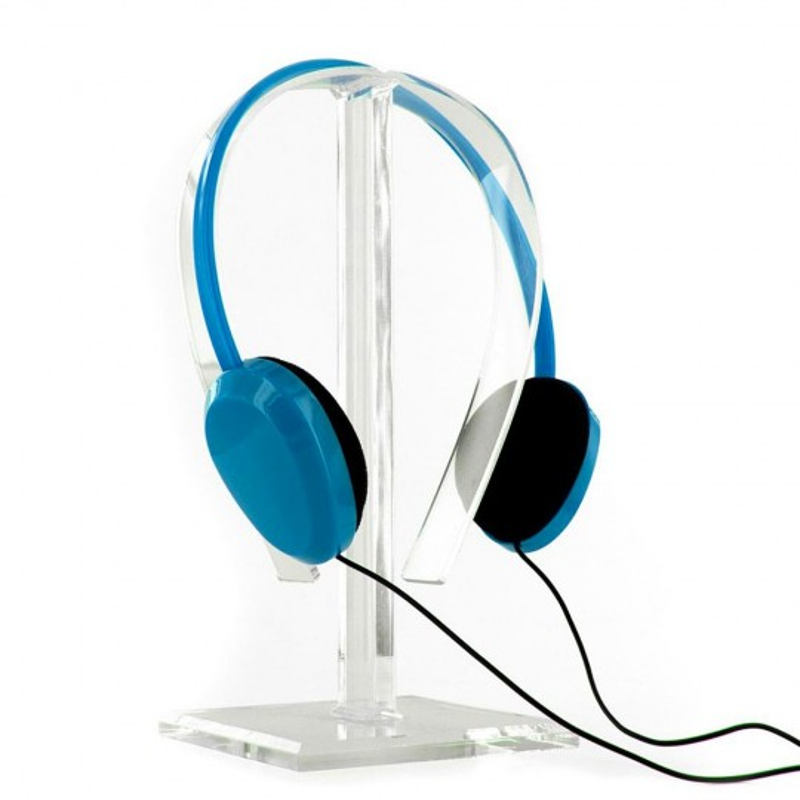 Casque audio avec limiteur de son Bleu