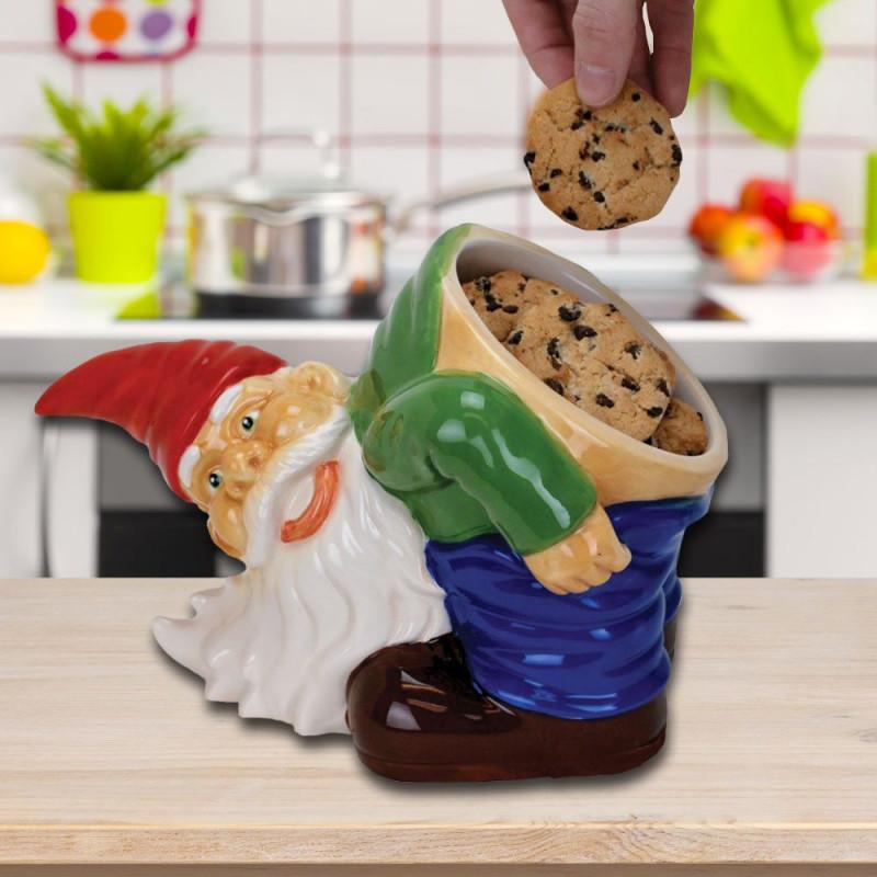Nain de jardin pot à biscuits