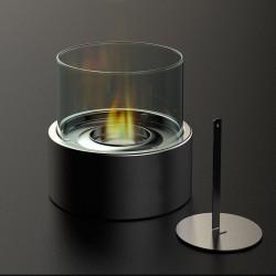 Cheminée de table ronde au bioéthanol