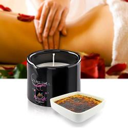 Bougie de massage gourmande Crème brûlée