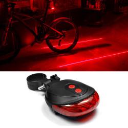 Eclairage de vélo double laser