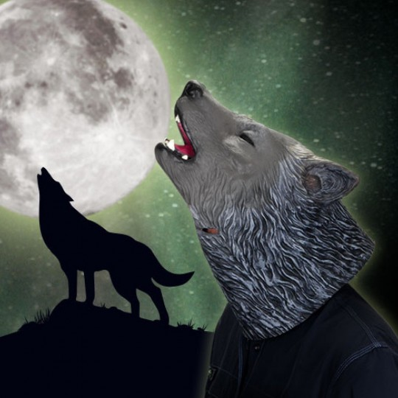 Masque loup hurlant