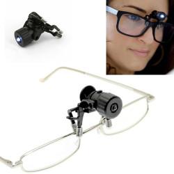 Mini lampe clip pour lunettes