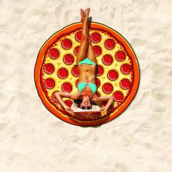 Serviette de plage géante Pizza