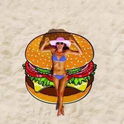 Serviette de plage géante Hamburger