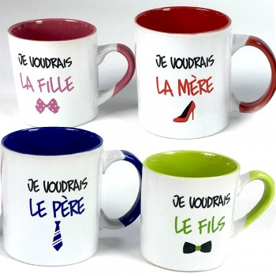 Coffret 4 mugs La Famille