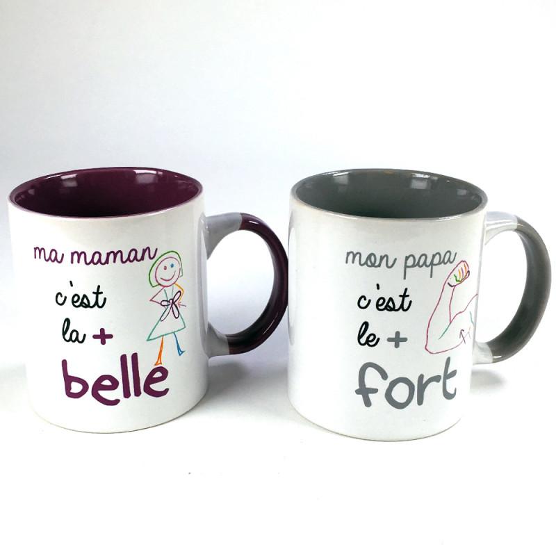 Coffret 2 mugs Papa Maman