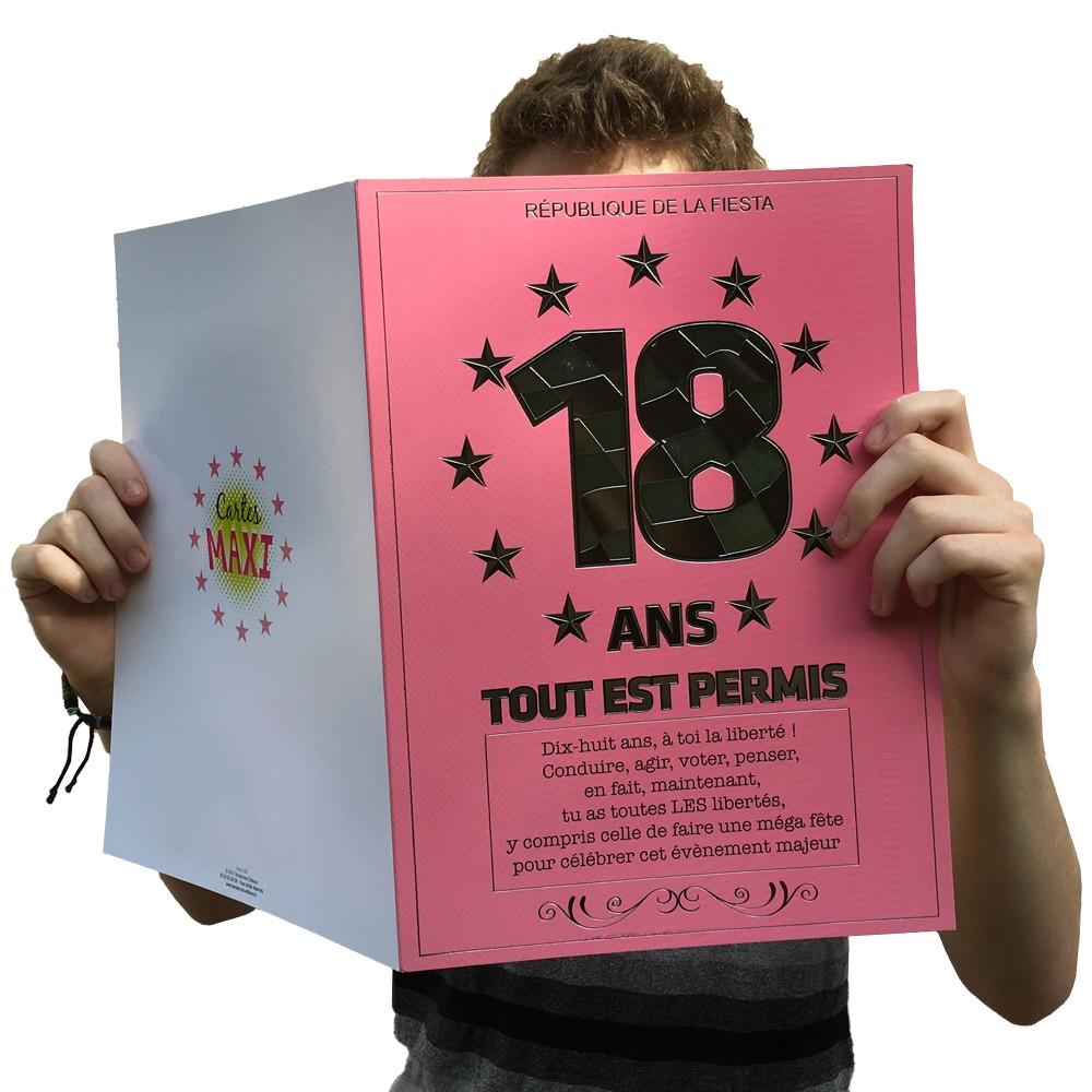 Favori Carte maxi 18 ans tout est PERMIS à 6,50 € UP81