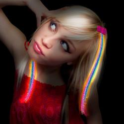 Extensions de cheveux lumineux