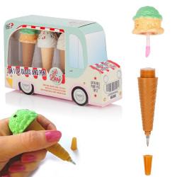 Coffret camion de glaces gloss et stylos