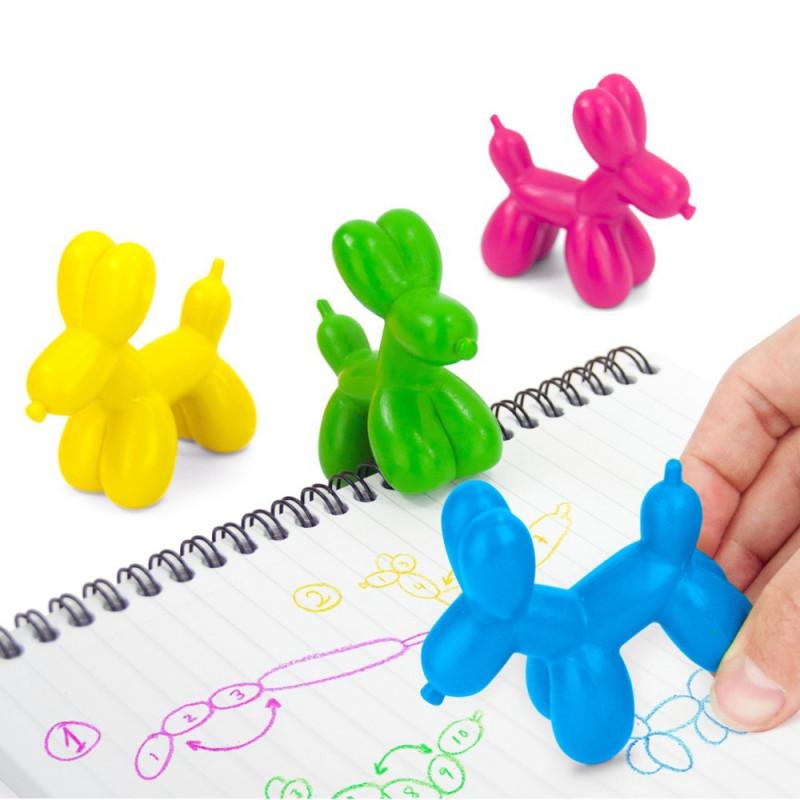 4 Crayons de couleur Balloon Dog
