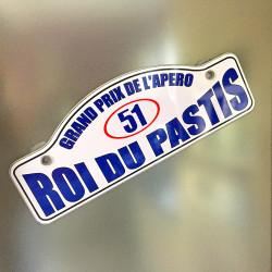 Plaque Rallye Roi du Pastis