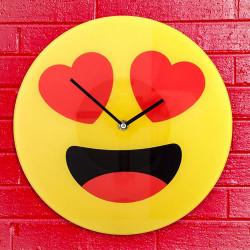 Horloge Emoji Coeurs