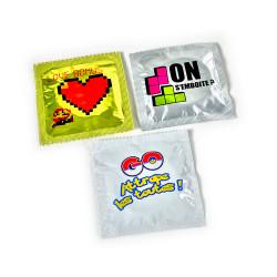 Lot de préservatifs humoristiques Fans de Jeux Vidéos