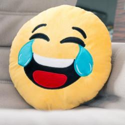 Coussin Emoji Pleurer de rire