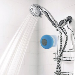 Enceinte de douche bluetooth Bleue