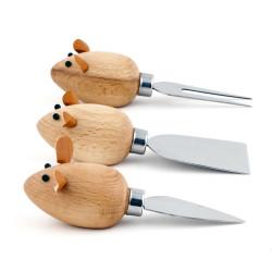 Set de 3 couteaux à fromage souris